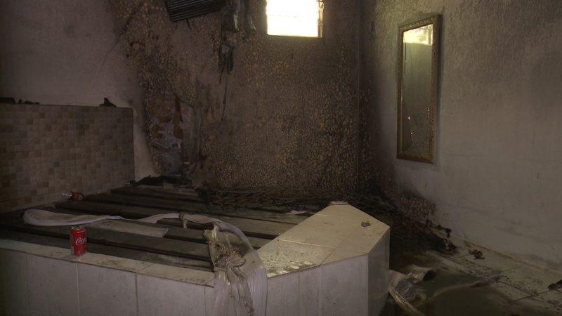 Cama incendiado em Motel de Joinville