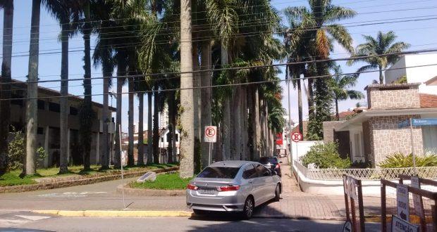 A Alameda Brustlein (Rua das Palmeiras) passou a oferecer unicamente o acesso oposto